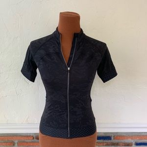 Lululemon Black Pace Line Bike Shirt